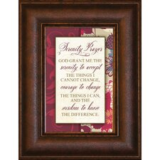 Serenity Prayer Mini Framed Textual Art