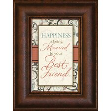 <strong>The James Lawrence Company</strong> Happiness is Mini Framed Wall Art