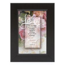 Love - I Cor 13 Shadow Box Framed Wall Art
