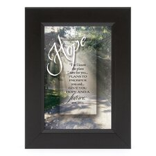 Hope - For I Know Shadow Box Framed Wall Art