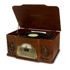 <strong>ElectroHome</strong> Winston 3-in-1 Vintage Classic Turntable Real Wood Stereo System