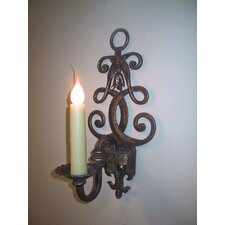 <strong>Laura Lee Designs</strong> Fleur De Lis Single Wall Sconce