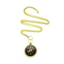 <strong>Jordan and Taylor</strong> Nautical Compass Necklace