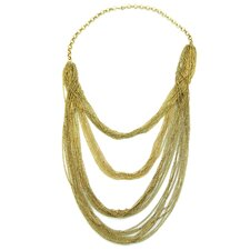 Gold Angel 3 Tier Chain Necklace