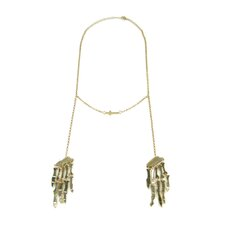 Skull in Cross Necklace