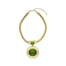 Gold Olivia Gemstone Necklace