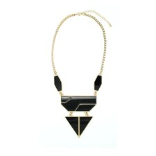 Dagger Down 3 Tier Bib Necklace