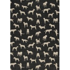 Alpha Stylish Dogs Flatweave Rug