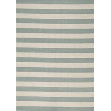 Alpha Teal Nautical Stripes Rug