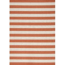 Alpha Orange Nautical Stripes Rug
