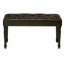 Franz Faux Leather Entryway Bench