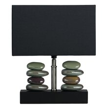 "LumiRock Balance 14"" H Table Lamp with Oval Shade"