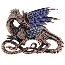 Dragon Crystal Brooch