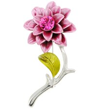 Zinnia Flower Crystal Brooch