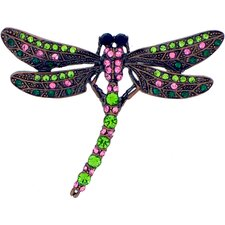 Dragonfly Crystal Brooch