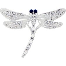 <strong>Fantasyard</strong> Dragonfly Crystal Brooch