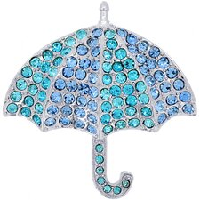 Umbrella Crystal Brooch