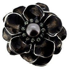 Flower Cultured Pearl Brooch Pendant