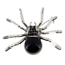 <strong>Fantasyard</strong> Belly Spider Crystal Brooch