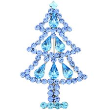 3 Tier Christmas Tree Crystal Brooch