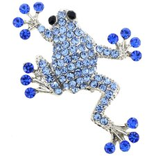 Sticky Frog Crystal Pin Brooch
