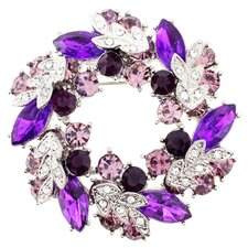 Wreath Crystal Pin Brooch Pendant