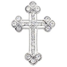 Cross Crystal Brooch Pendant
