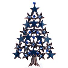 Montana Star Christmas Tree Crystal Brooch