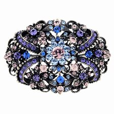 Flower Antique Style Perovskia Crystal Pin Brooch Pendant