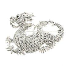 Dragon Animal Crystal Brooch