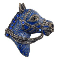 Horse Head Animal Crystal Pin Brooch