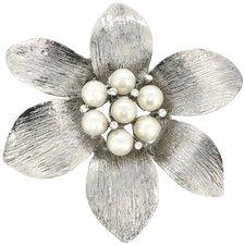 Flower Cultured Pearl Brooch