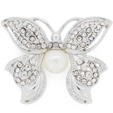 Butterfly Cultured Pearl Brooch