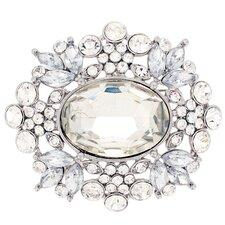 Moonlight Flower Wedding Crystal Brooch Pendant