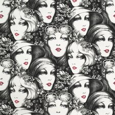 <strong>Astek Wallcovering Inc.</strong> Vintage Faces Tiles Wallpaper
