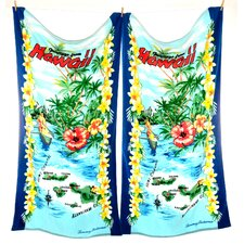 Greetings From Hawaii Beach Towel (Set of 2)