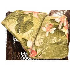 Tropical Orchid Cotton Quilted Throw