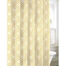 Bamboo Trellis Cotton Shower Curtain