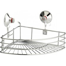 Corner Basket in Chrome with Suction Cups