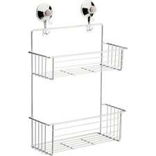 Shelf  in Chrome with Suction Cups