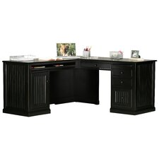 Coastal L-Shape Desk Office Suite
