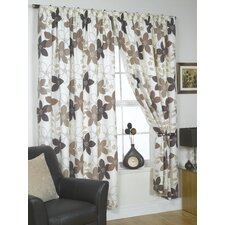 Izabelle Lined Slot Top Curtains (Set of 2)