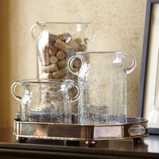 Handled Glass Jug Vase