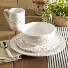 Edgewater 16 Piece Dinnerware Set, White