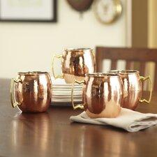 Hammered Mule Mug Set (Set of 4)