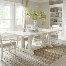 Lisbon Trestle Table, White