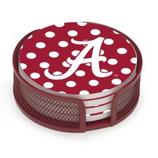 5 Piece University of Alabama Dots Collegiate Coaster Gift Set