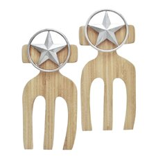 Western Star Bamboo Salad Hands (Set of 2)