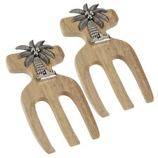 Palm Tree Bamboo Salad Hands (Set of 2)