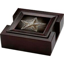 5 Piece Western Star Ambiance Coaster Gift Set